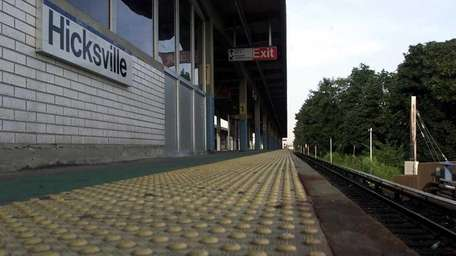 The Hicksville station on the Long Island Rail