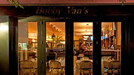 Bobby Van's steakhouse is located at the flashing