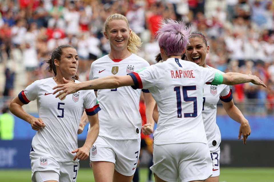 Megan Rapinoe of the USA celebrates with her