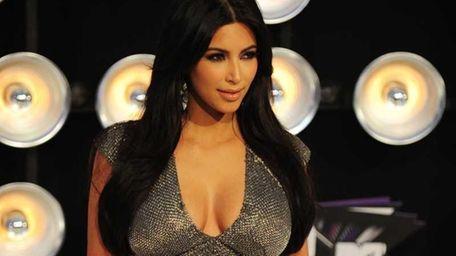 This file photo shows celebrity personality Kim Kardashian