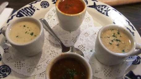 Soup sampler at The Fishery Grill in