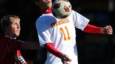 Chaminade High School #11 Hunter Frey, right, plays