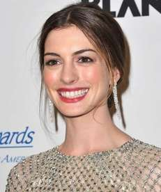 Anne Hathaway attends the Princess Grace Awards Gala