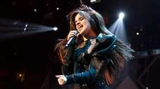 Camila Cabello performs in concert during Q102's iHeartRadio