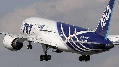All Nippon Airways Boeing 787 takes off for