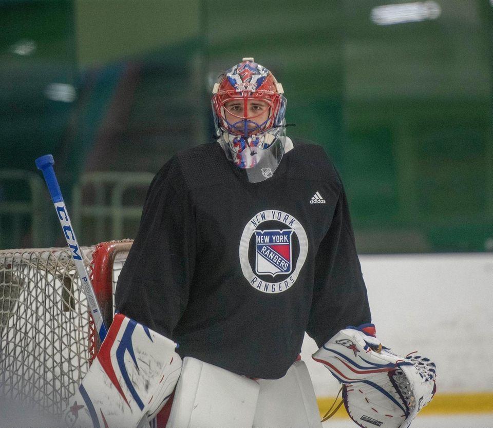 NewYork Rangers goalie #31 Igor Shesterkin. New York