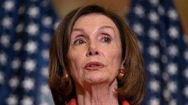 House Speaker Nancy Pelosi of Calif., speaks with