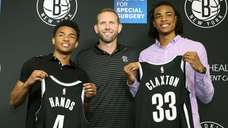 The Nets introduced draft picks Jaylen Hands and