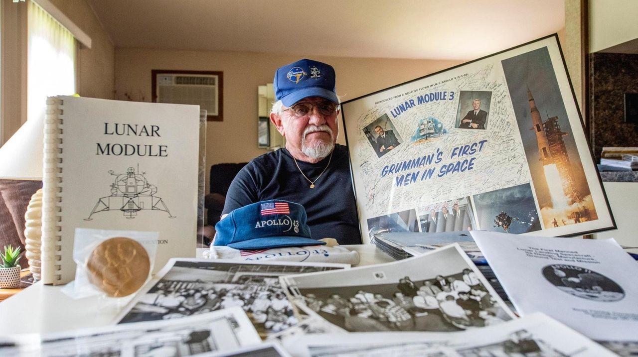 Former Grumman employee Peter Giargente, of Ronkonkoma, reflected