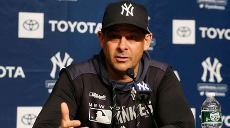 Manager Aaron Boone of the New York Yankees