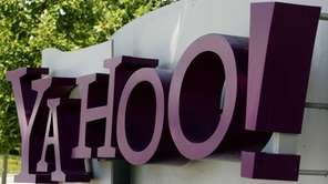 A Yahoo sign outside the company's headquarters in