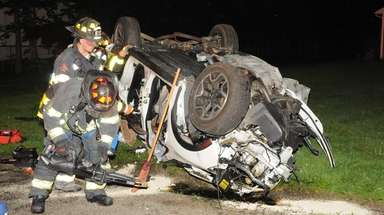 Scene of serious crash late Monday in Melville.