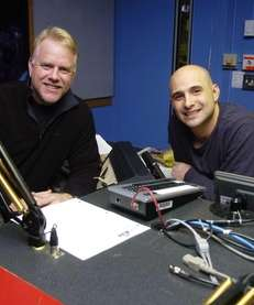WFAN radio personalities Boomer Esiason and Craig Carton