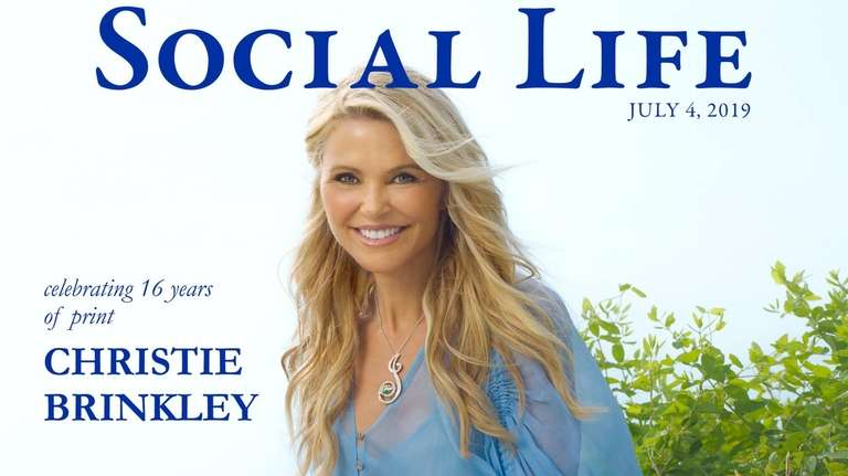 "Christie Brinkley on the July cover of ""Social"