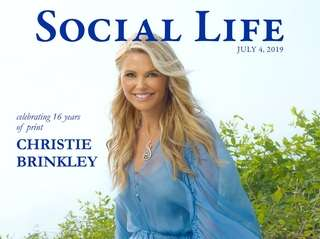 """Christie Brinkley on the July cover of """"Social"""