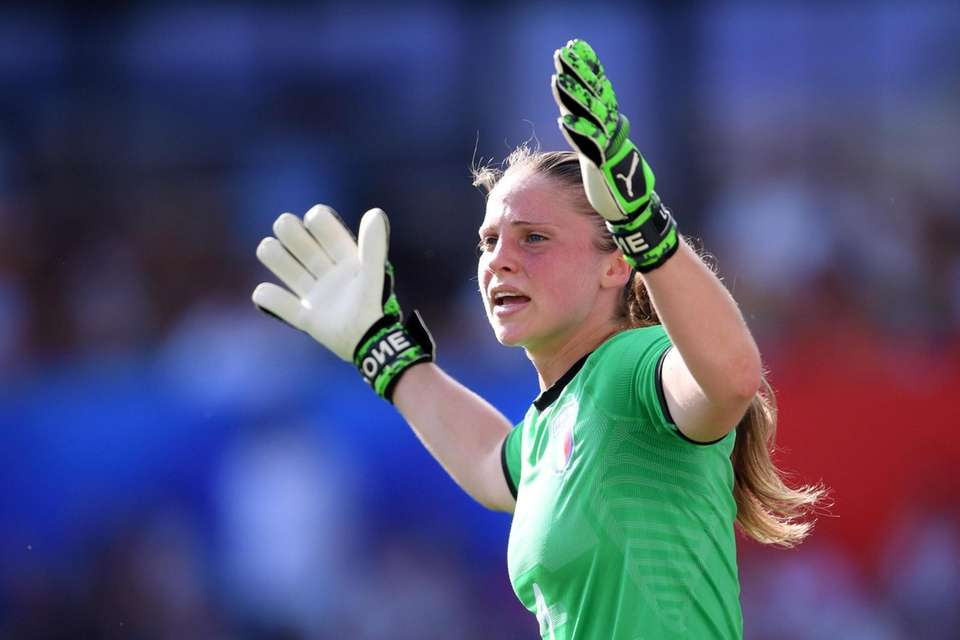 Laura Giuliani of Italy reacts during a Women's