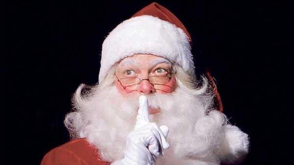 Charles Edward Hall as Santa Claus.