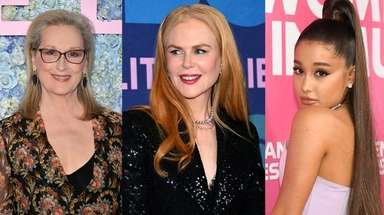 Meryl Streep, left, Nicole Kidman and Ariana Grande
