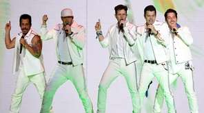 From left, Danny Wood, Donnie Wahlberg, Joey McIntyre,