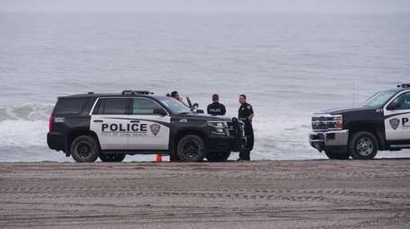 Long Beach Police on the scene Friday where