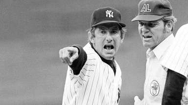 Fiery New York Yankees manager Billy Martin makes
