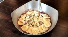 "Vitality Bowls' ""the nutty bowl,"" which features acai,"