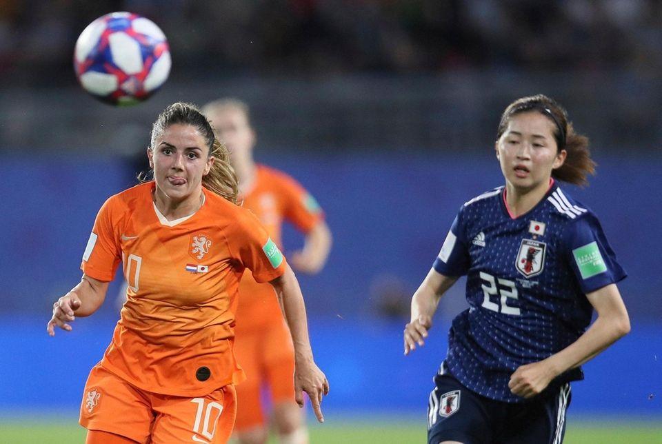 Netherlands' Danielle Van De Donk and Japan's Risa