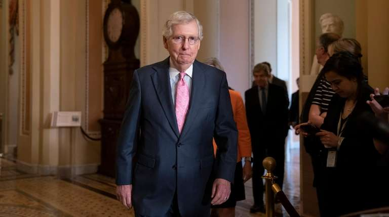 Senate Majority Leader Mitch McConnell at the Capitol