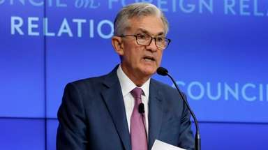 Federal Reserve Chair Jerome Powell speaks on the