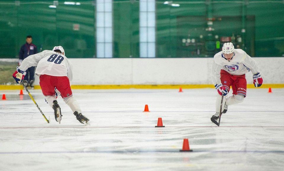 New York Rangers #70 Karl Henriksson skating up