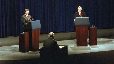 President Reagan and his Democratic opponent, Walter Mondale,
