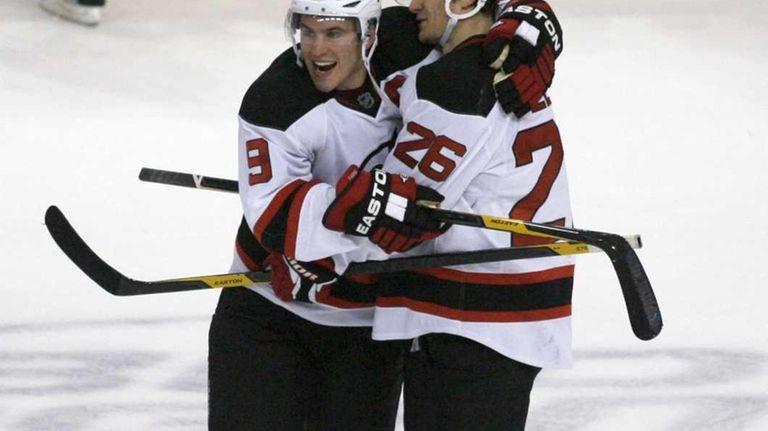 New Jersey Devils  Patrik Elias (26) celebrates with f446c391f