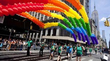 The 2019 NYC Pride March kicks off at