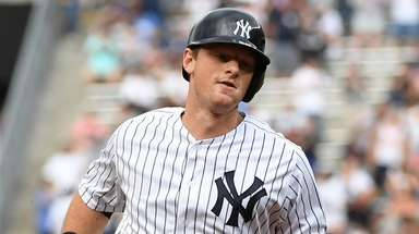The Yankees' DJ LeMahieu rounds the bases on