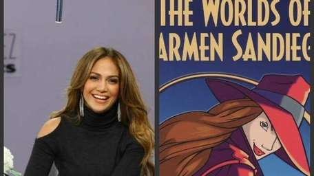 Jennifer Lopez, left, and an image from