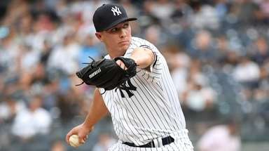 Yankees opening pitcher Chad Green delivers a pitch