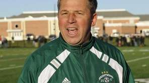 Brentwood head coach Ron Eden reacts at the