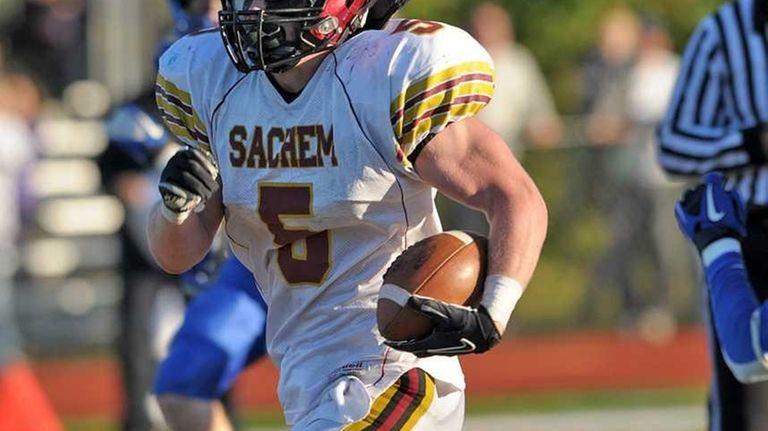 Sachem's Steven Casali runs untouched for the touchdown
