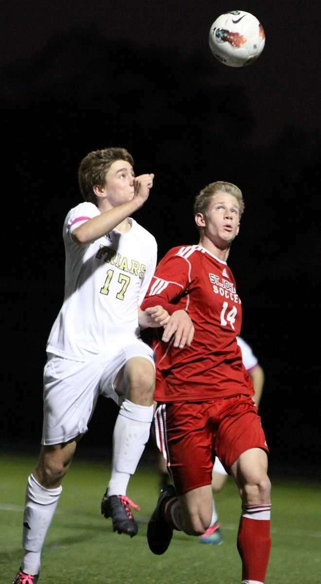 St. Anthony's Mike Horch moves the ball against