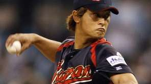 Japan starter Yu Darvish pitches against Korea in