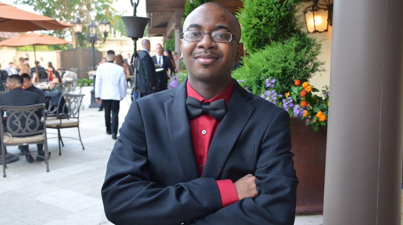 Malik Ellis, 19, attends Islip High School's senior