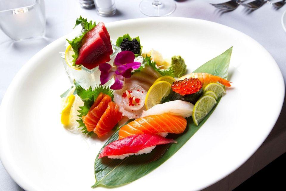 A sushi platter from Insignia Prime Steak &