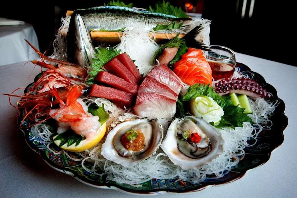 Assorted sashimi is served at Rothmann's Steakhouse in