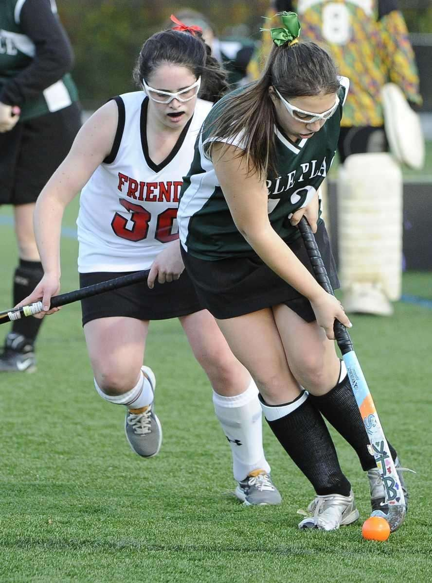 Carle Place's Jessica McMurray controls the ball in