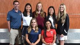 Members of the Newsday All-Long Island girls golf