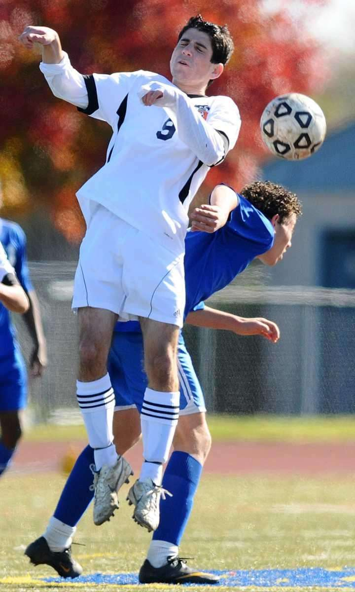Great Neck South's Bobby Friedner goes up for