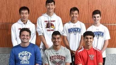 Members of the Newsday All-Long Island boys tennis