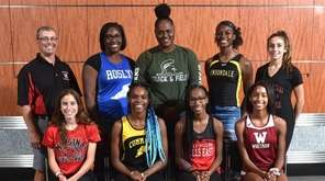 Members of the Newsday All-Long Island girls track