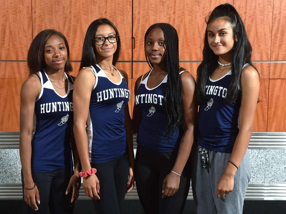 Members of the Huntington girls track & field
