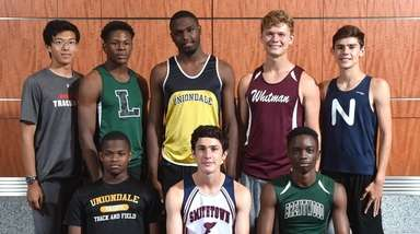 Members of the Newsday All-Long Island boys track